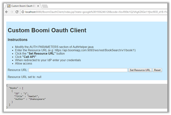 Article: Java Web Application for Calling a Boomi Published
